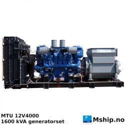 2 x MTU 12V4000 1600 kVA generator set - less that 100 hrs since new.