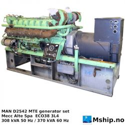 MAN D2542-MTE generator set https://mship.no