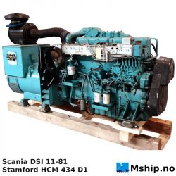 Scania DSI 11-81 305 kVA generator set https://mship.no