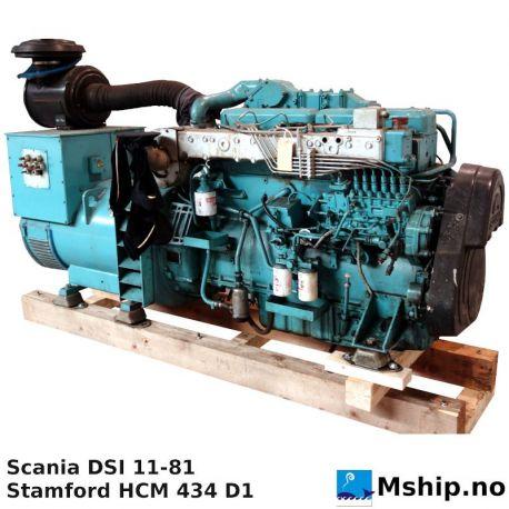 Scania DSI 11-81 305 kVA generator set https://mship.no
