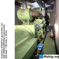 Cummins KTA38-G1 700 kVAgenerator set in 40 Ft container https://mship.no