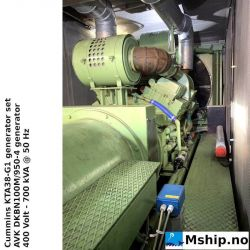 Cummins KTA38-G1 generator set in 40 Ft container https://mship.no
