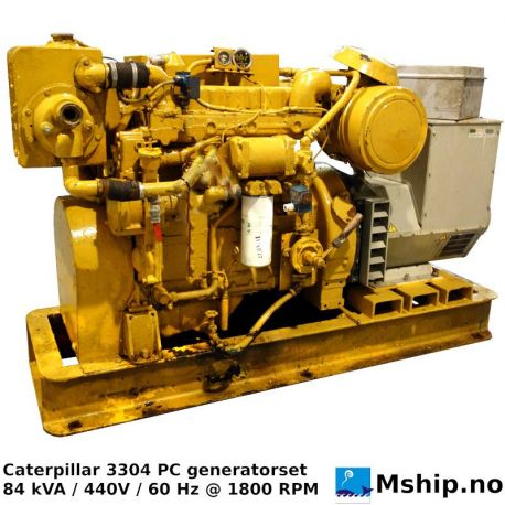 Caterpillar 3304 84 kW generator set https://mship.no