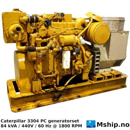 Caterpillar 3304 84 kW generator set https://mship.no