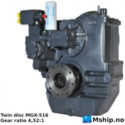 Twin Disc MGX-516 with gear ratio 4,52:1 https://mship.no