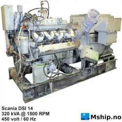 Scania DSI 14 - 320 kVA generator set https://mship.no