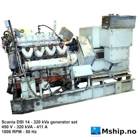 Scania DSI 14 - 320 kVA generator set https://mship.no
