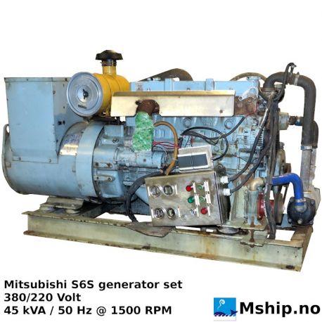 Mitsubishi S6S 45 kVA generator set https://mship.no