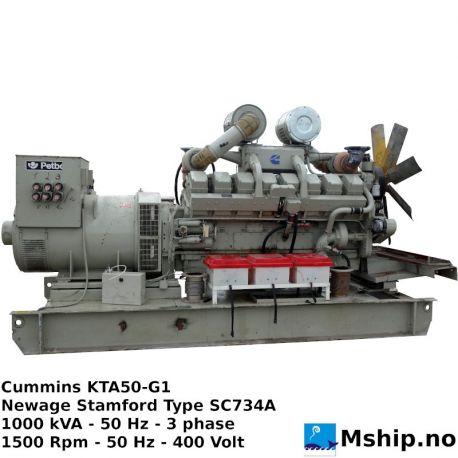Cummins KTA50-G1 1000 kVA generator set https://mship.no