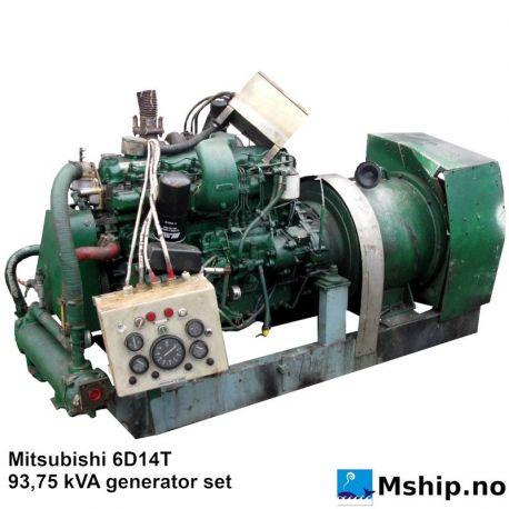 Mitsubishi 6D14T 93,75 kVA generator set https://mship.no