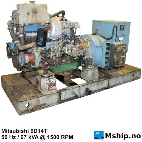 Mitsubishi 6D14T 97 kVA generator set https://mship.no