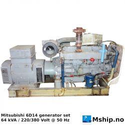 Mitsubishi 6D14 64 kVA generator set https://mship.no
