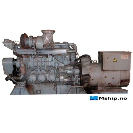 240 kVA Leroy Somer generator set with Mitsubishi Diese engine type S6BMPT