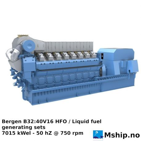 Bergen B32:40V16 HFO - 8769 kVA generator set - promotion https://mship.no