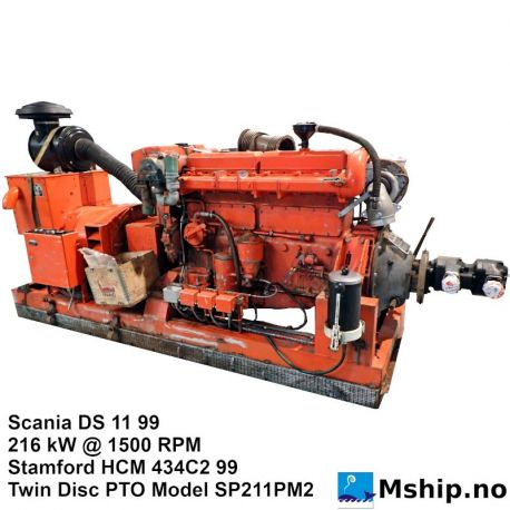 Scania DS 11 99 generator set with Twin Disc PTO