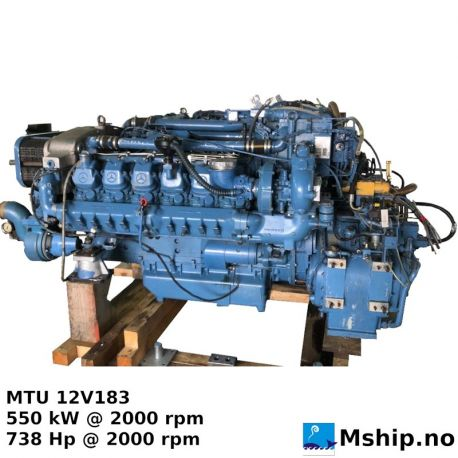 MTU 12V 183 - 738 Hp @ 2000 rpm https://mship.no