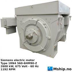 Siemens electric motor Type 1RN4 560-6HM90-Z https://mship.no
