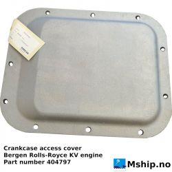 Crankcase access cover Bergen KV engine part 404791 https://mship.no