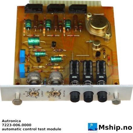 Autronica automatic control test module 7223-006.0000 https://mship.no