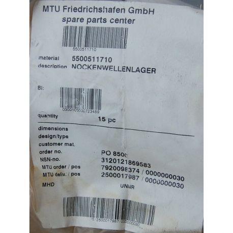 MTU 5500511710 CAMSHAFT BEARING NOCKENWELLENLAGER mship.no
