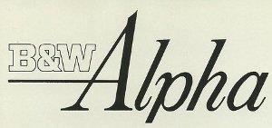 B&W Alpha logo