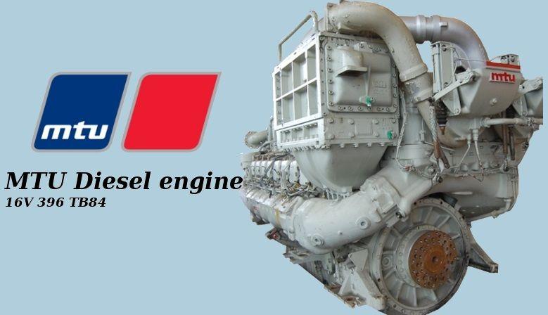 MTU 16V 396 TB84 Diesel engine