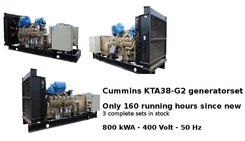 Cummins KTA38-G2 800 kWA generatorset