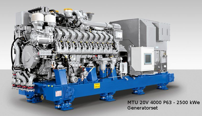 MTU 20V 4000 P63  Generator set   2500 kWe -  EDG for Nuclear Power Plants  mship.no