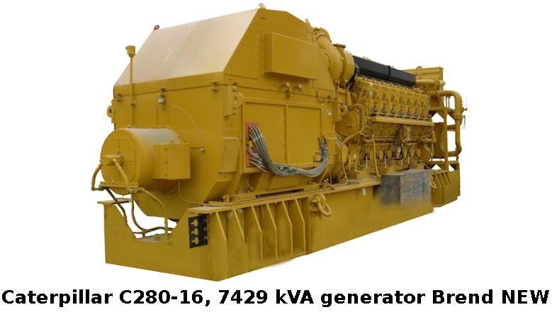 Caterpillar C280-16 generator set - 7429 kWA